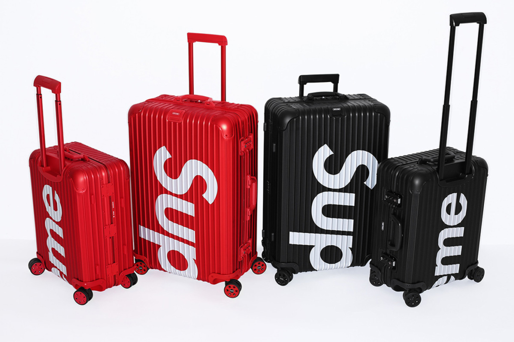 Supreme teamed up with luxe luggage label Rimowa