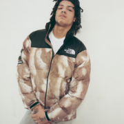 The Rabbit Fur pattern nuptse is a coveted jacket
