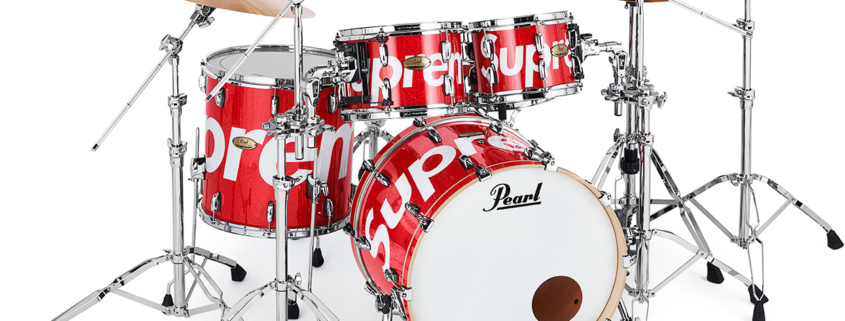 Supreme and Pearl release their Drum Set this week